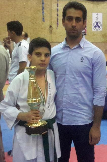 نایب قهرمانی سپهر در مسابقات کشوری کاراته